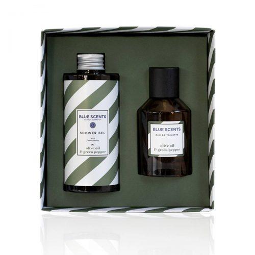 Gift set olive oil & green pepper