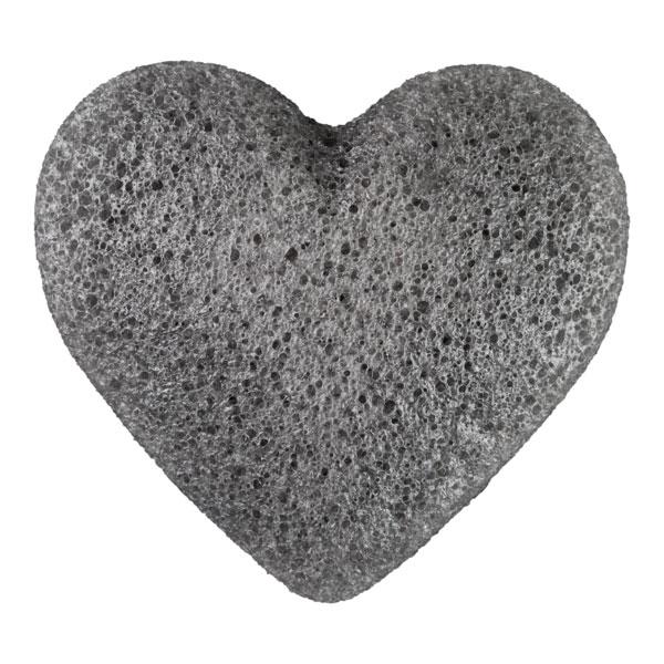 Σφουγγαράκι Konjac σε σχήμα καρδιάς με Bamboo Charcoal