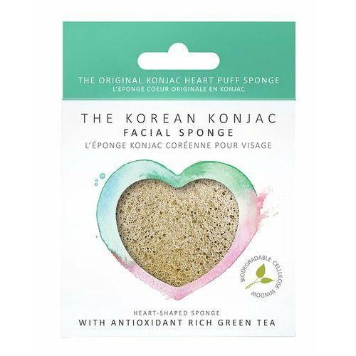 Σφουγγαράκι Konjac σε σχήμα καρδιάς με Green tea